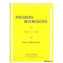 Partitions classique COMBRE VERGNAULT M. - PREMIERS BOURGEONS - CLARINETTE Et PIANO Clarinette