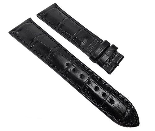 Maurice Lacroix Miros Ersatzband Uhrenarmband Leder Lousiana-Kroko-Print schwarz 22mm 22000F
