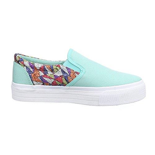 Damen Schuhe, 51135-Y, HALBSCHUHE SLIPPER Hellgrün