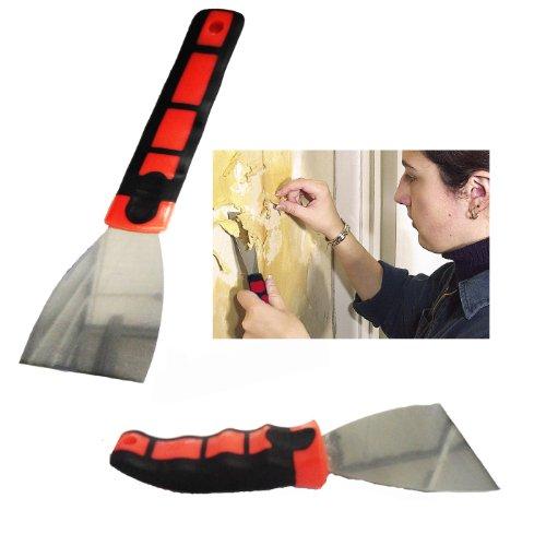 Grids Couteau de peintre avec grip antidérapant pour enlever le papier peint/la peinture Largeur de la lame : 7,6 cm