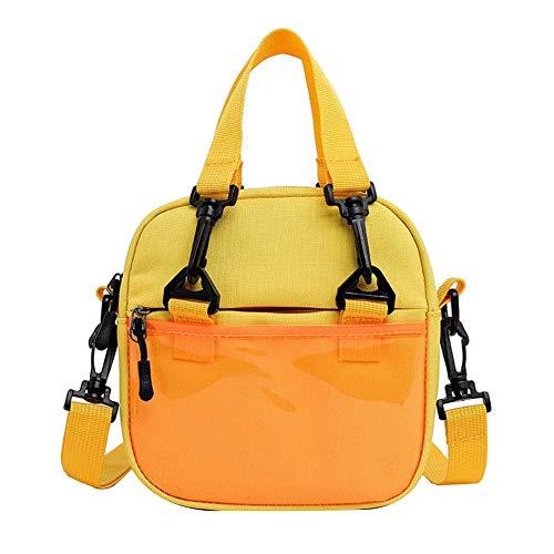 YSoutstripdu Gelegenheitsfrauen Patent Leder Patchwork Square Kleine Tote Crossbody Shoulder Bag-Yellow/Black - Patent-leder-wildleder-clutch