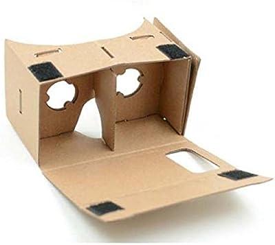 Sannysis vr 3d, DIY Cardboard Google Gafas 3D, vr 6 pulgadas Gafas de video virtual