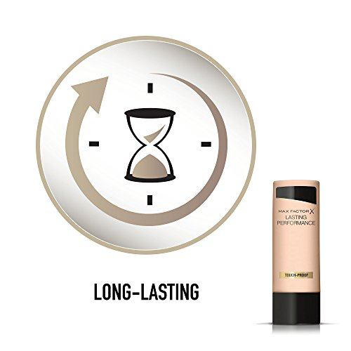 Max Factor Lasting Performance Liquid Foundation, High Coverage, Smudge-Proof Formula for Sensitive Skin Type, 100 Fair, 35 ml