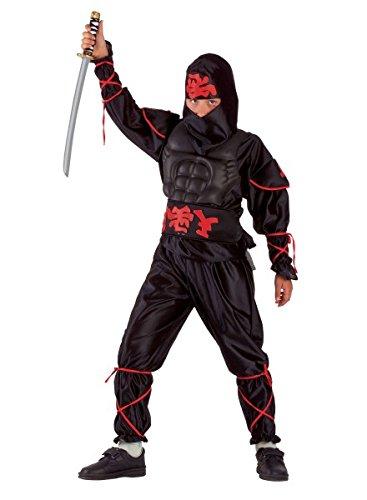 Jungenkostüm Ninja, Karnevalskostüm Kämpfer schwarz, (Frauen Kostüm Ideen Asiatische)