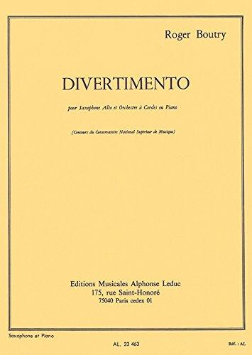 DIVERTIMENTO (SAX.ORCH.CORDES)SAXOPHONE ...