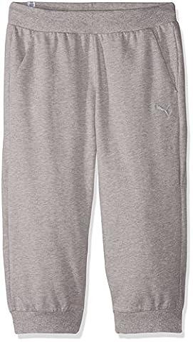 Puma Women's Ess Capri Sweat Pants W Trousers, Light Gray Heather, Large