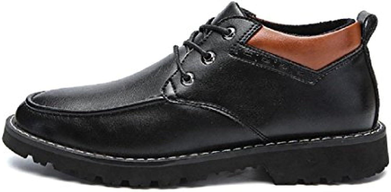 Herren Winter Das neue Freizeit Lederschuhe Warm halten Lässige Schuhe Plus Kaschmir Stiefel Geschäft Formelle