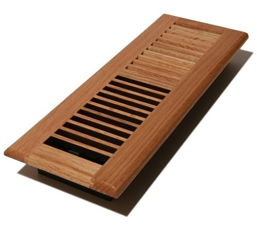 Decor Grates WL414-N Wood Louver Floor Register, Natural Oak, 4-Inch by 14-Inch by Decor Grates