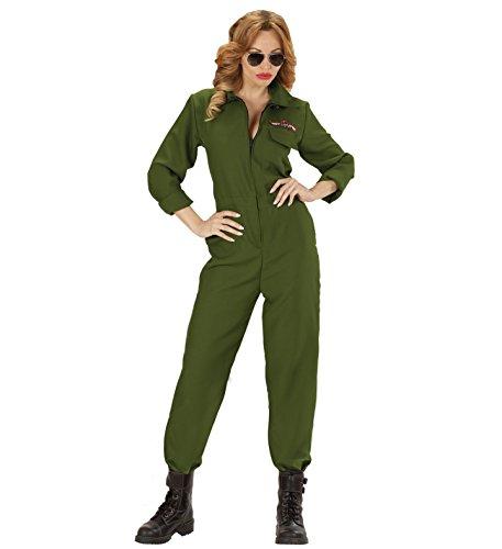 JET PILOTIN PILOT Kampfjet Top Gun Partner Kostüm deluxe für Damen und Herren, Pilot/Pilotin:Damen Anzug XL - 46/48