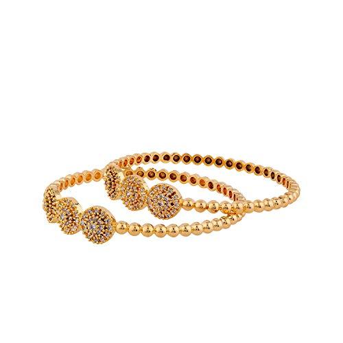 Voylla Bangle for Women (Golden)(8907617813608)