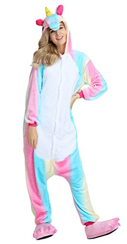 Pyjamas Licorne Femme homme Deguisement Integrale Jumpsuit Kigurumi Noël Halloween Hiver