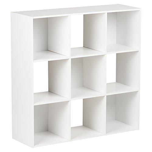 Hartleys Aufbewahrungsmöbel in Weiß, mit 3Böden - 9Würfel