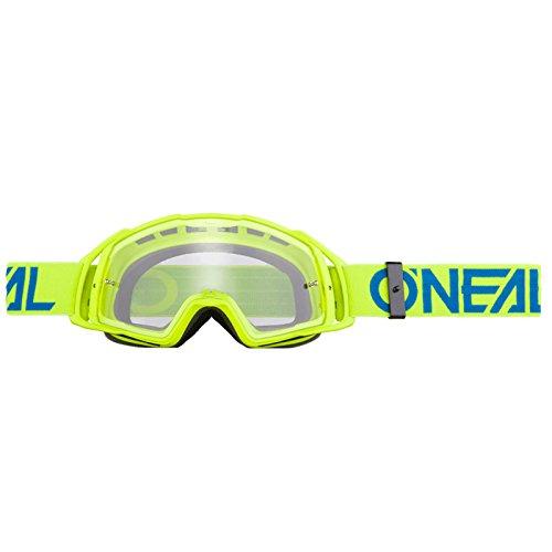 O'Neal B-20 Goggle Flat Crossbrille Klar Motocross DH Downhill MX Anti-Fog Glas, 6023-3, Farbe Neongelb