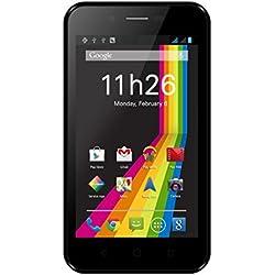Polaroid Tilia Smartphone débloqué 3G (Ecran: 4 Pouces - 4 Go - Double SIM - Android) Noir + Coque Rouge