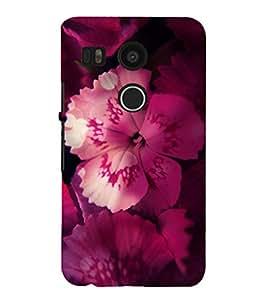 PrintVisa Hibiscus Pink Flower 3D Hard Polycarbonate Designer Back Case Cover for LG Nexus 5X :: LG Google Nexus 5X New