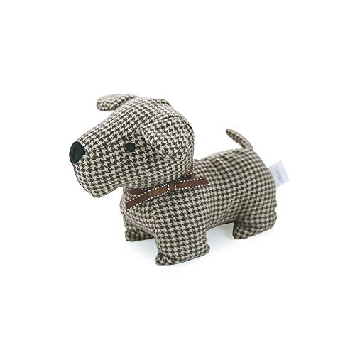 takestop - Tope para Puerta con Forma de Perro, Color marrón, 23 x 13 cm, Arena, 1 kg, Bloqueo Vintage, Shabby Chic, decoración del hogar