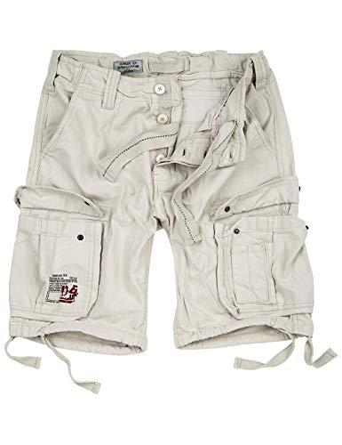Surplus Herren Airborne Vintage Shorts (L, Off-White) - White Cargo