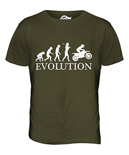CandyMix Motocross Evolution Des Menschen Herren T Shirt Khaki Grün