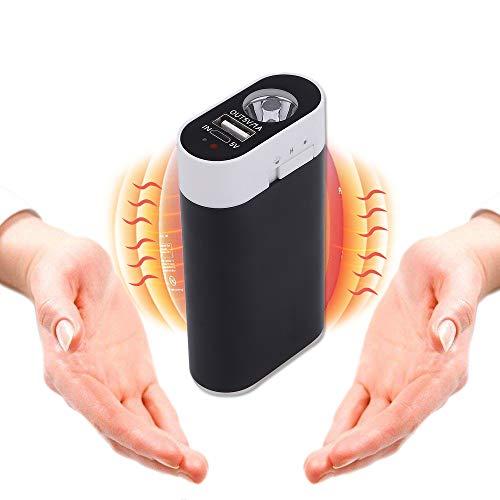 Ewarmer 5200Mah Portable Batterie Externe USB Pocket Chauffe-Main électrique réchauffeur Rechargeable (5200mAh, Noir)