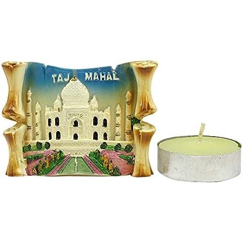 Taj Mahal Diseño resina artesanal Arte soporte de la vela votiva Tealight Holder Decoración