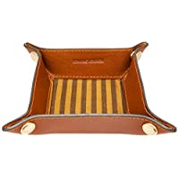 Gents Ladies Leather Valet Coin Jewellery Tray (Small)