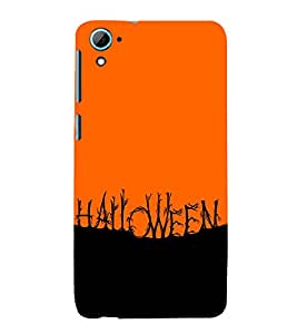 HAUNTED RED AND BLACK PICTURE DEPICTING HALLOWEEN 3D Hard Polycarbonate Designer Back Case Cover for HTC Desire 826 :: HTC Desire 826 Dual Sim :: HTC Desire 826 DS (GSM + CDMA)