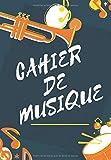 Cahier De Musique: Avec 12 Portées De Dimension A4 Pour Musique & Paroles | 50 Pages...