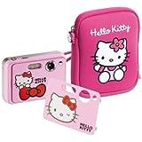 INGO Ensemble appareil photo numérique Hello Kitty + housse