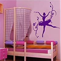 Beautiful Ballerina Wall Stickers Art Vinyl Wall Decal Kids Girls Bedroom Room Home Decoration Wall Mural 61x61cm