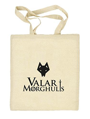 Shirtstreet24, Valar Moghulis Wolf, Natur Stoffbeutel Jute Tasche (ONE SIZE) Natur