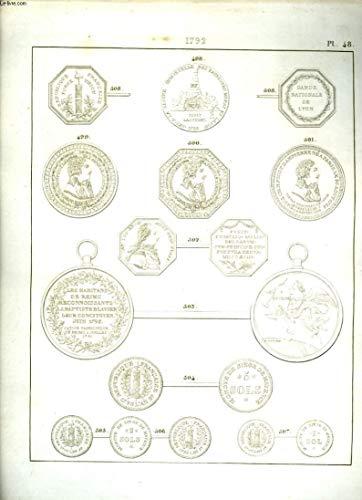 Histoire Numismatique de la Révolution Française. Planche N°48 : 1793