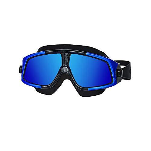 NAN® Unisex-Erwachsene Open Water Schwimmmaske Anti-Fog-Schutzbrille,Blue