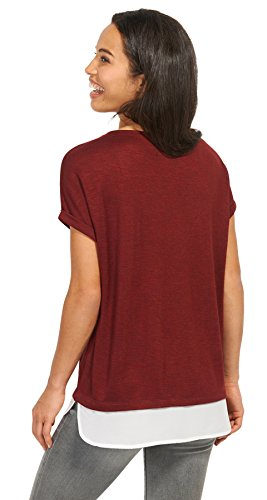 TOM TAILOR Damen T-Shirt Layered Top preppy plum