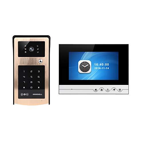 Skryo_ Electronics & Gadgets Skryo HD 7 Zoll Farbe LCD Video Türsprechanlage Türklingel Intercom Nachtsicht Kamera (AB) (Kleine Video Game Organizer)