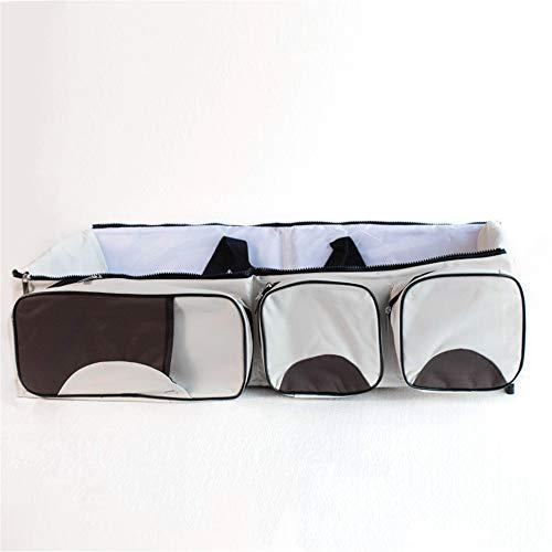 Reis-bett-möbel (baby - trolley tragbare reisen krippe windeltasche versteckt ersatz matratze klappbar, bett oder tragbare wiege für 0-12 monate,reis weiß)