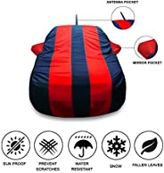 Oshotto Tafetta Car Body Cover with Mirror and Antenna Pocket for Tata Tiago (Red, Blue)