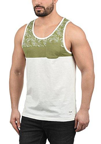 !Solid Flo Herren Tank-Top Mit Rundhalsausschnitt Aus 100% Baumwolle Regular Fit, Größe:S, Farbe:Aloe (3612) - Hawaii-blumen-muster-shirt