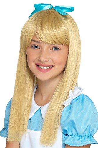 SMIFFY 'S 48841Wonderland Prinzessin Perücke, Mädchen, blond, eine Größe