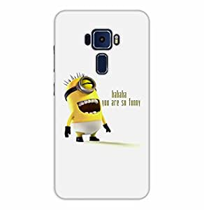 Happoz ASUS Zenfone 3 (ZE552KL) 5.5 inches Cases Back Cover Mobile Pouches Shell Hard Plastic Graphic Armour Premium Printed Designer Cartoon Girl 3D Funky Fancy Slim Graffiti Imported Cute Colurful Stylish Boys D051