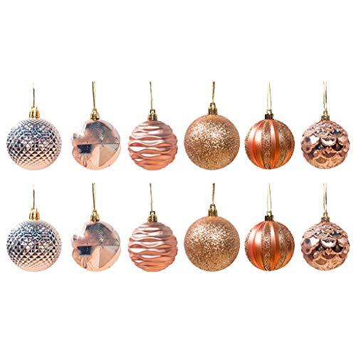 Voberry palline di natale 12 pezzi 60mm palline natale in plastica decorazioni di natale ornamenti decorazioni per albero di natale decorazioni natalizie regali