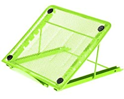 Halter Mesh Ventilated Adjustable Laptop Stand For Laptopnotebookipadtablet & More - Green