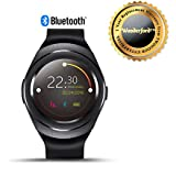 Wonderford Multifunction T11 Bluetooth SmartWatch With Whatsapp, Facebook And Twitter, Pedometer, Remote Camera & Anti-Lost Feature Support Compatible With Xiaomi Mi, Apple IPhone & IPad, Samsung, Sony, Lenovo, Oppo, Vivo And ALL Smartphones, Tabl