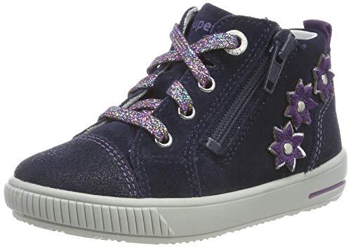 superfit Baby Mädchen Moppy Sneaker, (Blau/Lila 80), 28 EU