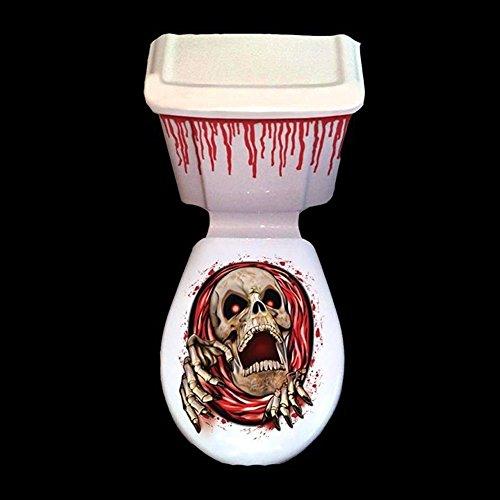 Moderne Büroartikel Halloween WC Sitz Ghost temporäre wiederholbare Blutige Aufkleber Halloween Decor Party Prop (Random) Ideal für den Einsatz im Büro