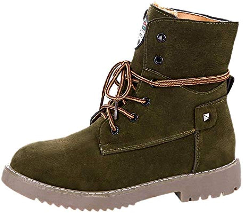 FuweiEncore Bottes Chaussures Femmes Bottines Mode féminine Bottines Chaussures Plates Bottines féminine Chaudes Chaussures décontractées... 22e0ab