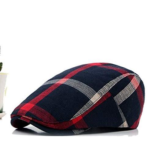 AROVON Baskenmützen Caps Classic Englad Style Plaid Männer Frauen Casual Unisex Sport Caps Baumwolle Baskenmützen Hüte Flat Cap -