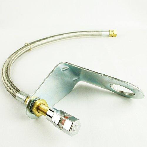 Quick Pressure Schnelle Druck qp-000250-flange Edelstahl 250mm/25cm Flexibler geflochten Draht Ventil Vorbau Verlängerung -