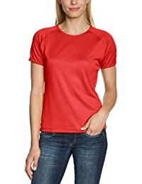 SALEWA sporty - Camiseta para mujer, tamaño 50/44, color rojo