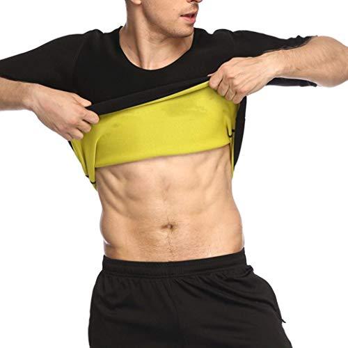 Herren Abnehmen T-Shirt Body Shaper Kurzarm Weste Thermo Sauna Weight Loss Shapewear