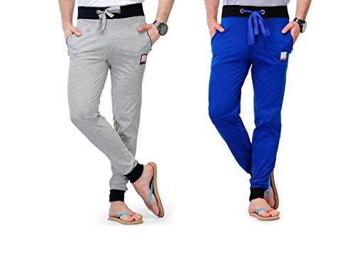 Superior FeelBlue Men's Cotton Track Pant (Combo Pack of 2) (X-Large)